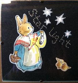 "6"" x 6"" Mother Rabbit searching under the stars"
