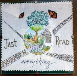 "6"" x 6"" Just Read Everything"