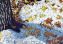 End Of Winter Pastel Painting By Paula Winchester
