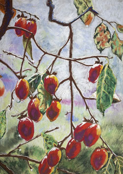 Hachiya Persimmons Pastel Painting By Paula Winchester