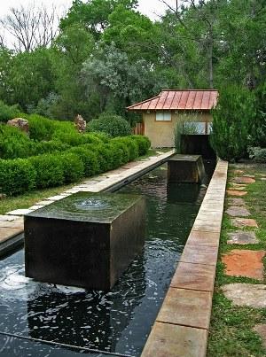 June 2007 tea retreat at sunrise springs resort for Rectangular koi pond