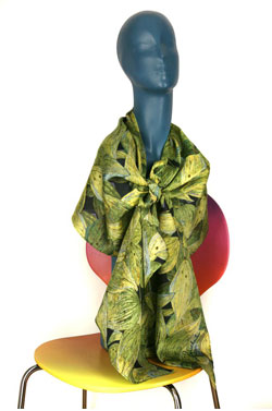 Golden Solomon's Seal Silk Charmeuse Scarf